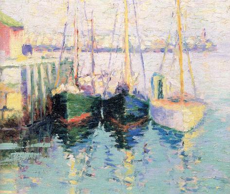 Джордж Нойес. Лодки на воде