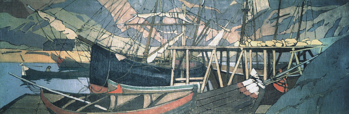 Konstantin Korovin. The encampments ship. Panels for the North division of the Russian pavilion at the world exhibition in Paris (with the participation of N.. Klodt)