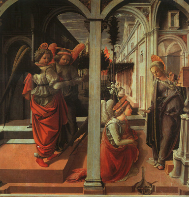 Fra Filippo Lippi. The Annunciation Of The Virgin