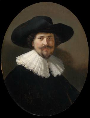 Рембрандт Харменс ван Рейн. Портрет мужчины в чёрной шляпе