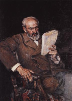 Vasily Ivanovich Surikov. Portrait of doctor A. D. yezerskyi