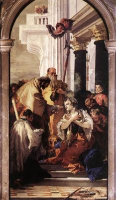 Джованни Баттиста Тьеполо. Последнее причастие Святой Люсии