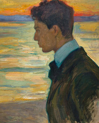 Leonid Osipovich Pasternak. Portrait of Boris Pasternak at the Baltic sea