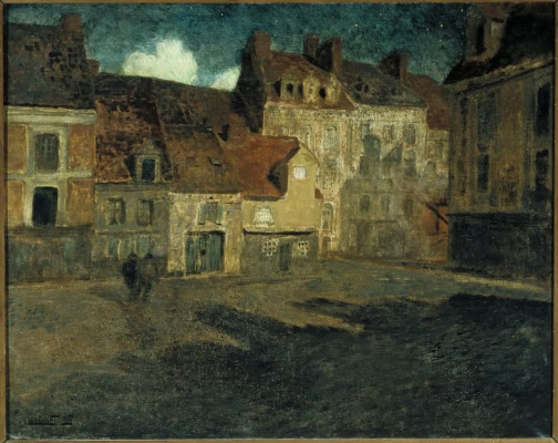 Frits Thaulow. The area of a small town