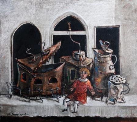 Yosl Bergner. Still life with red doll