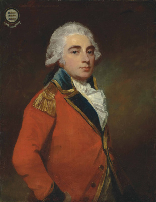 George Romney. Portrait of General Albemarl Bertie, 9th Earl of Lindsey
