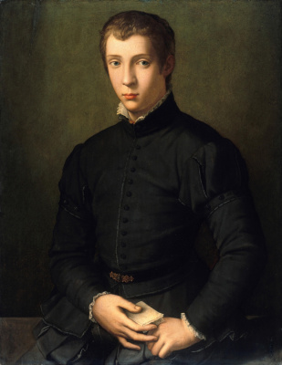 Alessandro Allori. Portrait of a young man. Old Masters Picture Gallery, Berlin
