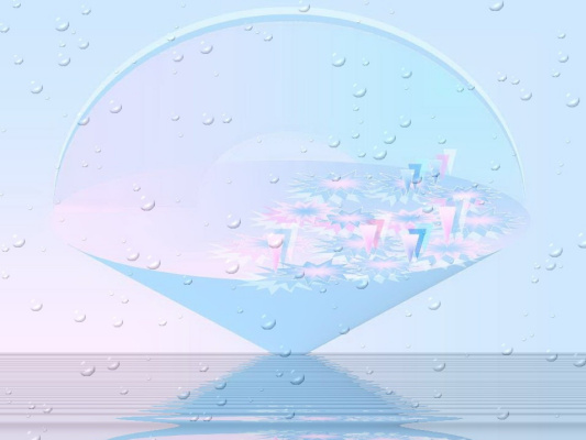 Надежда Гуло. Водные лилии утром на водной ряби