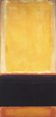 Марк Ротко. № 4 (Желтый, угольный, коричневый)