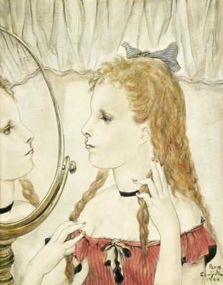 Zuguharu Fujita (Léonard Fujita). The girl in front of the mirror