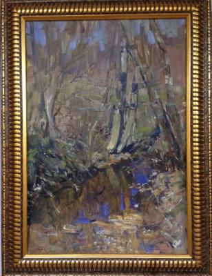 """Vyacheslav Andreevich Fedorov. """"Spring Creek"""", 1962. K./M., 50х33"""