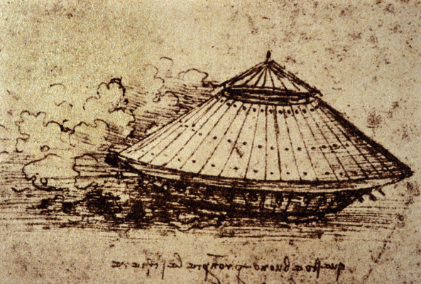 Leonardo da Vinci. The drawing of the tank