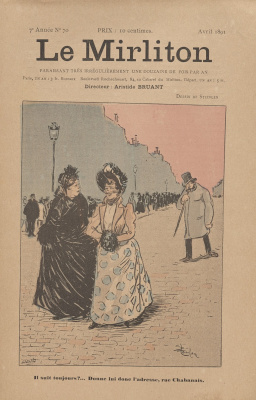"Theophile-Alexander Steinlen. Illustration for the magazine ""Mirliton"" No. 70, April 1891"