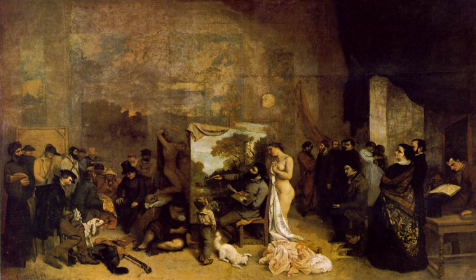 Gustave Courbet. A real allegory
