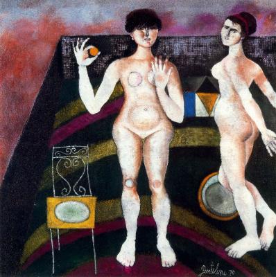Франко Джентилини. Две обнаженные женщины