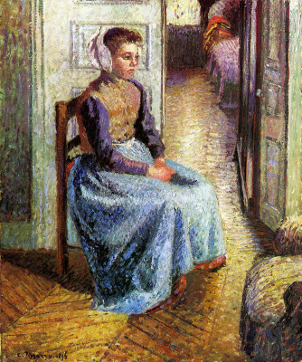 Camille Pissarro. Young Flemish maid