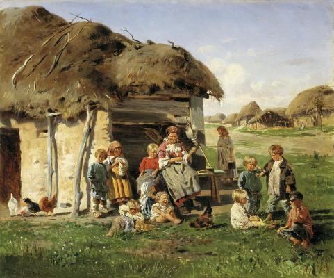Vladimir Egorovich Makovsky. Peasant children
