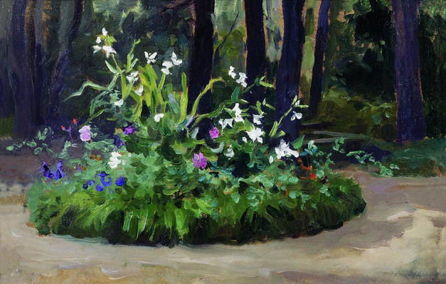 Alexey Stepanovich Stepanov. Flowerbed in the Park