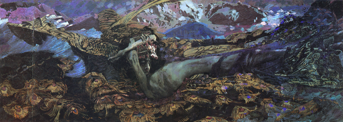Mikhail Vrubel. The Demon Downcast