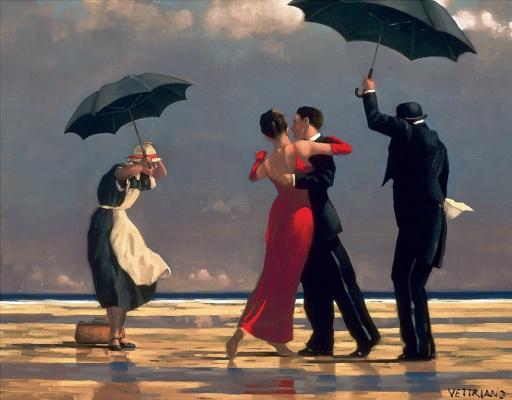 Jack Vettriano. The singing Butler