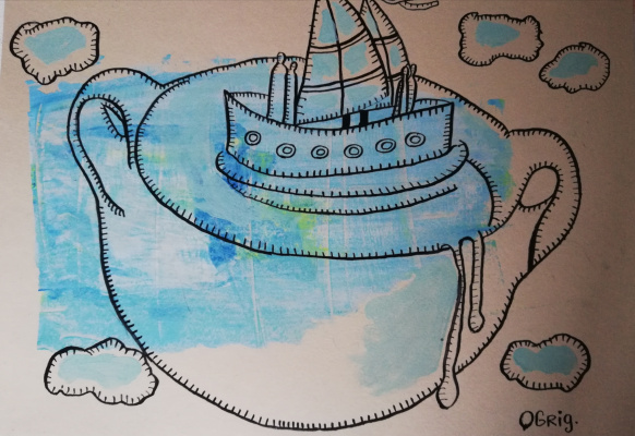 Olga Grig. A boat