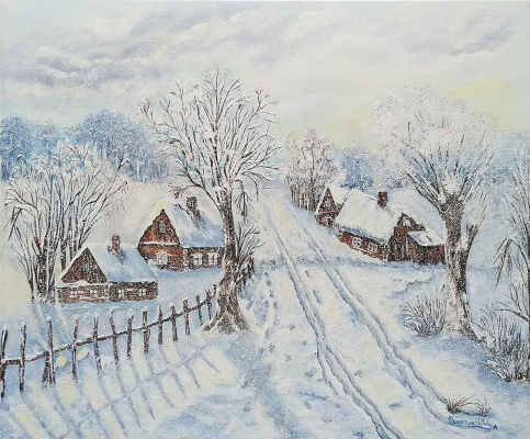 Tatyana Nikolaevna Feoktistova. Winter in the village