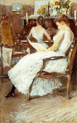 Childe Hassam. Mrs. Hassam and her sister