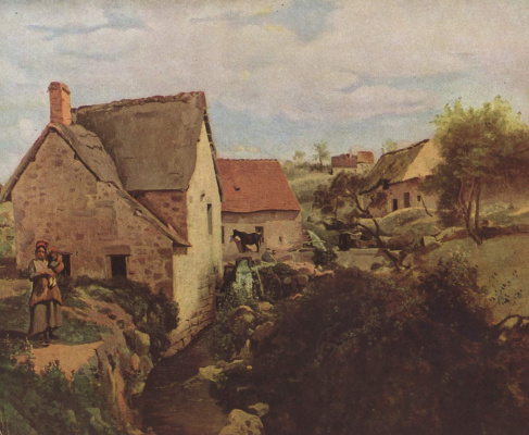 Camille Corot. Hut and Mill on the Creek
