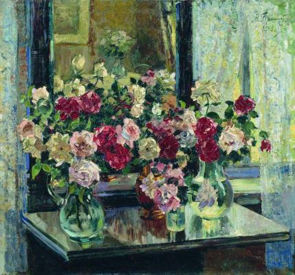 Alexander Mikhailovich Gerasimov. Roses