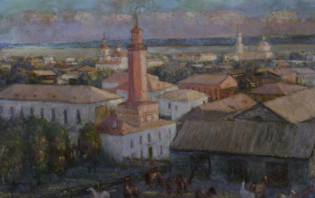 Анатолий Георгиевич Филимонов. View of Perm from the height of the Resurrection Church