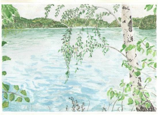 Ирина Дудина. На озере