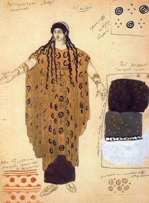 """Lev Samoilovich Bakst (Leon Bakst). Costume design for the ballet """"Fedra"""""""