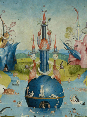 The garden of earthly delights. The Central part. Fragment