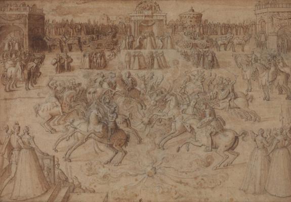 Антуан Карон. Британские и ирландские рыцари между огненных шаров