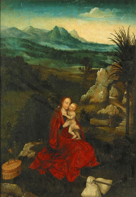 Joachim Patinir. Rest on the flight into Egypt