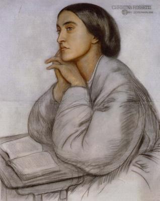Dante Gabriel Rossetti. Portrait of Christina Rossetti book