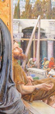 Уильям Холман Хант. Нахождение Спасителя во храме. Фрагмент. Нищий