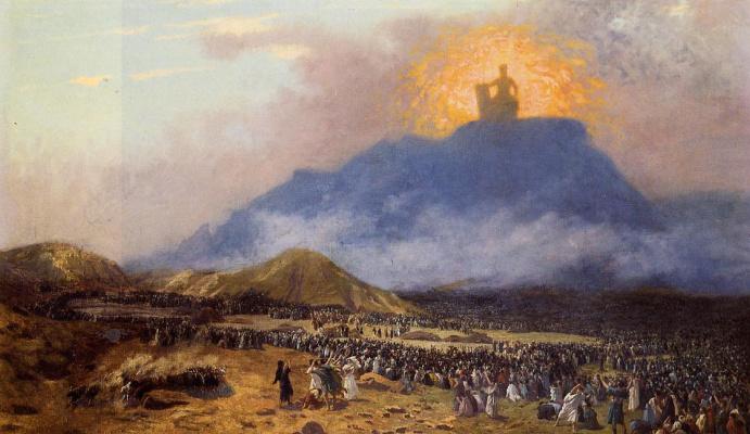 Jean-Leon Jerome. Moses on mount Sinai