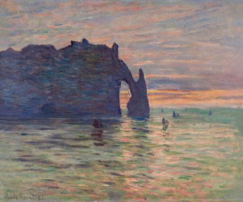Claude Monet. Étretat. Sunset