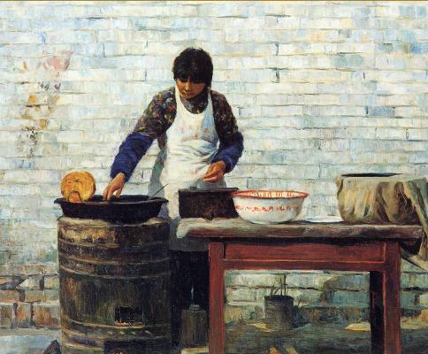 Цзян Хуэй. Приготовление блинов