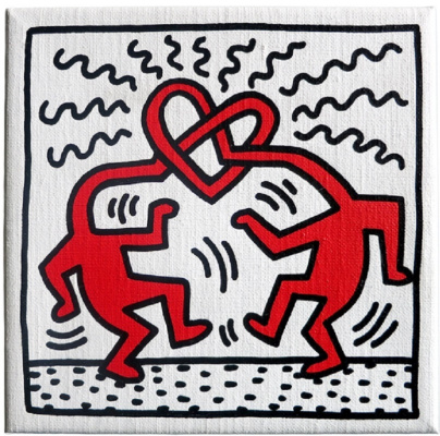 Whale Haring. Untitled (Love)