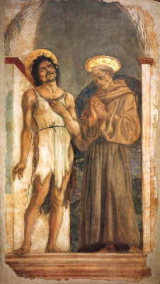 Доменико Венециано. Иоанн Предтеча и святой Франциск