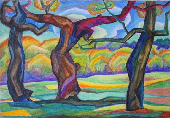 Natalia Vladimirovna Plastinina. Dance of trees