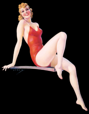 Jules Erbit. Red swimsuit