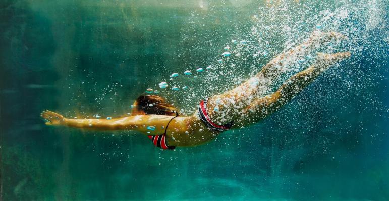 Эрик  Зенер. Под водой