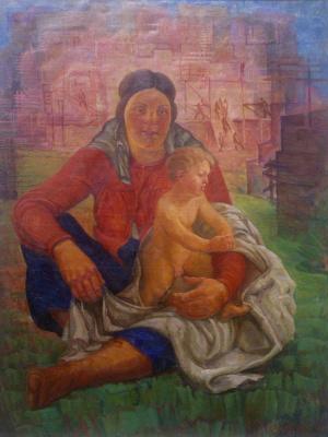 Александр Иванович Сиротенко. Женщина с ребенком