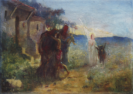 Nikolai Nikolaevich Ge. The Return Of Tobias. The sketch of the unfinished painting