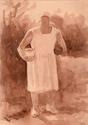 Алексей РуСАК. Женщина с кастрюлями