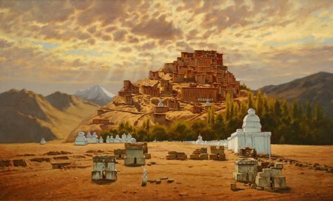 "Artem Yurievich Puchkov. ""Gold skies"" (Tibet)"
