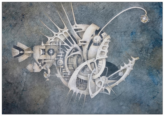 "Natalia Andreevna Korotaeva. Anglerfish, a series of ""mechanical aquarium"""